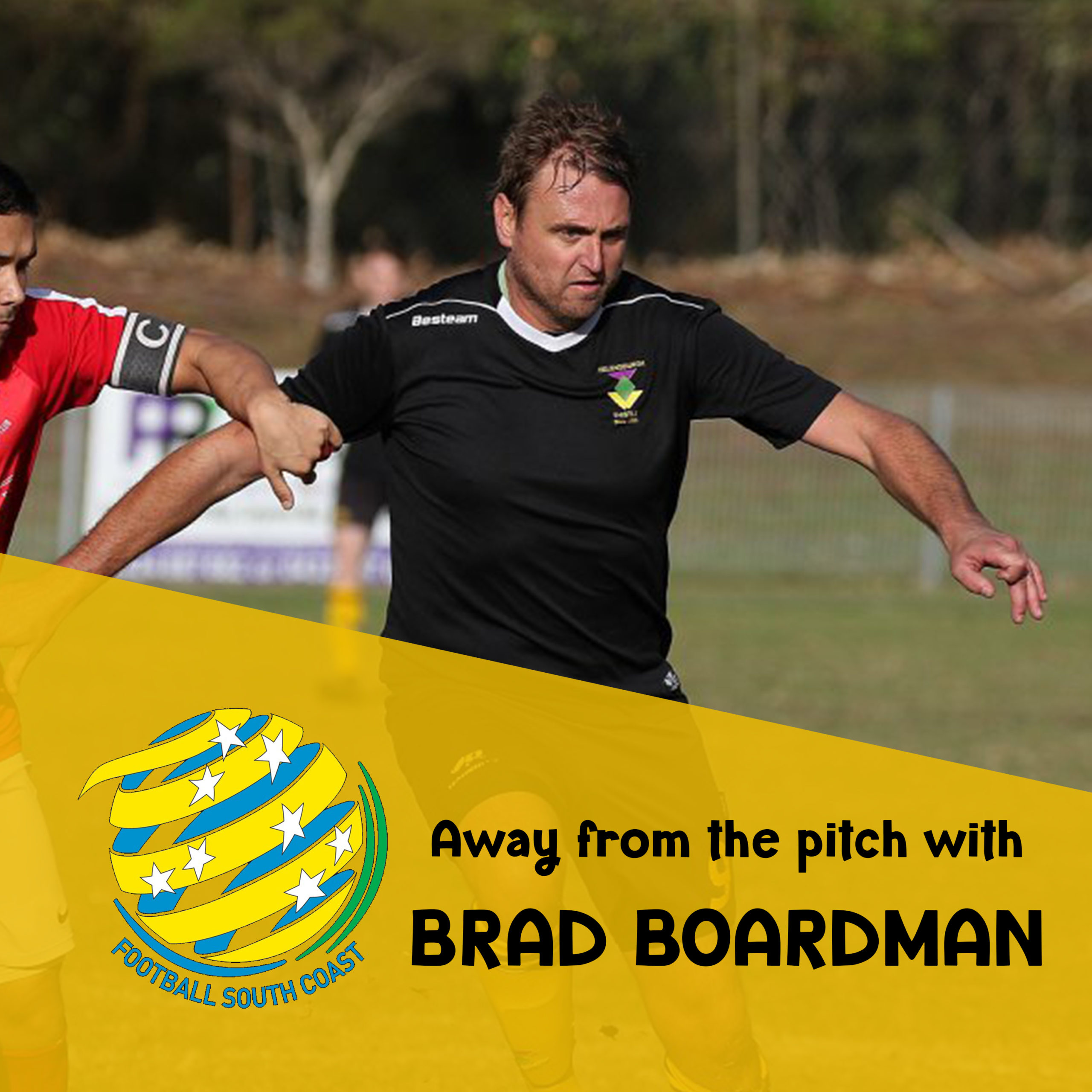 Away from the pitch with Brad Boardman artwork